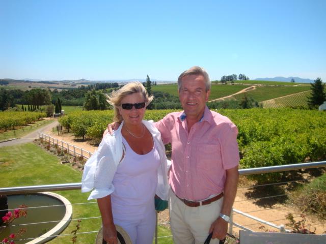 PÅ vingården Marianne i Stellenboch