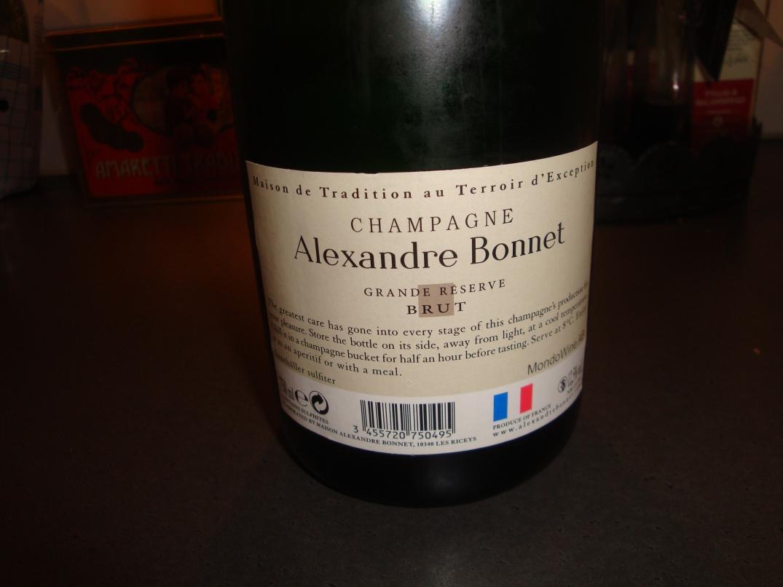 Champagne till pilgrimsmusslor