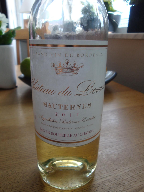 Sauternes till havtornssorbé