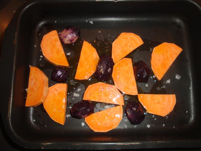 Söt- och lila potatis