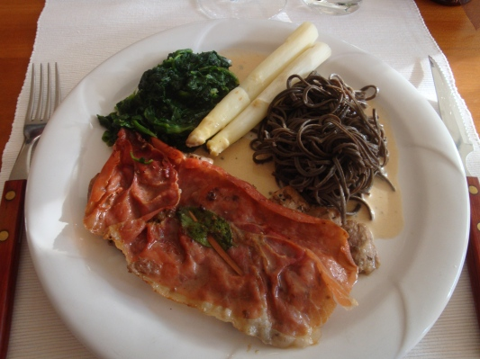 Saltimbocca med spenat och pasta (2)