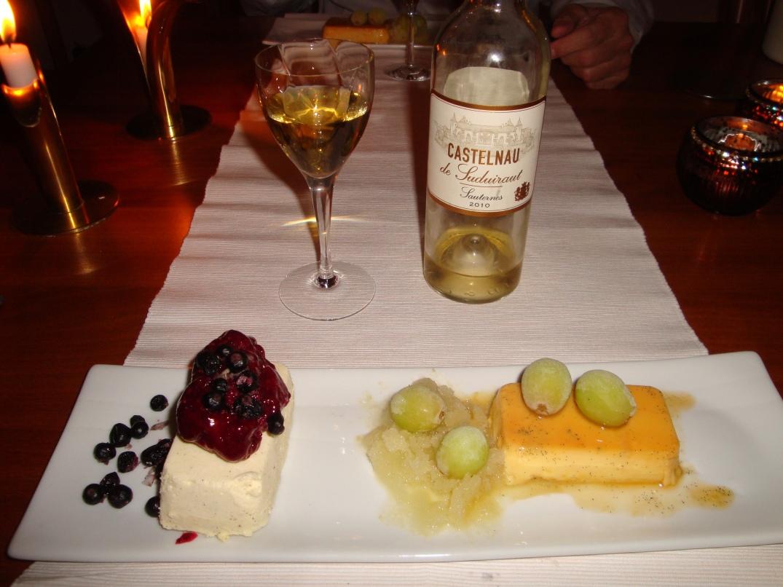 frostade-grona-druvor-med-vaniljparfait-svart-vinbarssorbe-och-creme-caramell-med-sauternesvin
