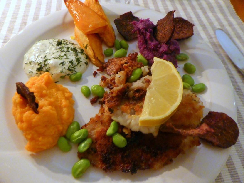 Pankopanerad rödspätta med sötpotatis (2)
